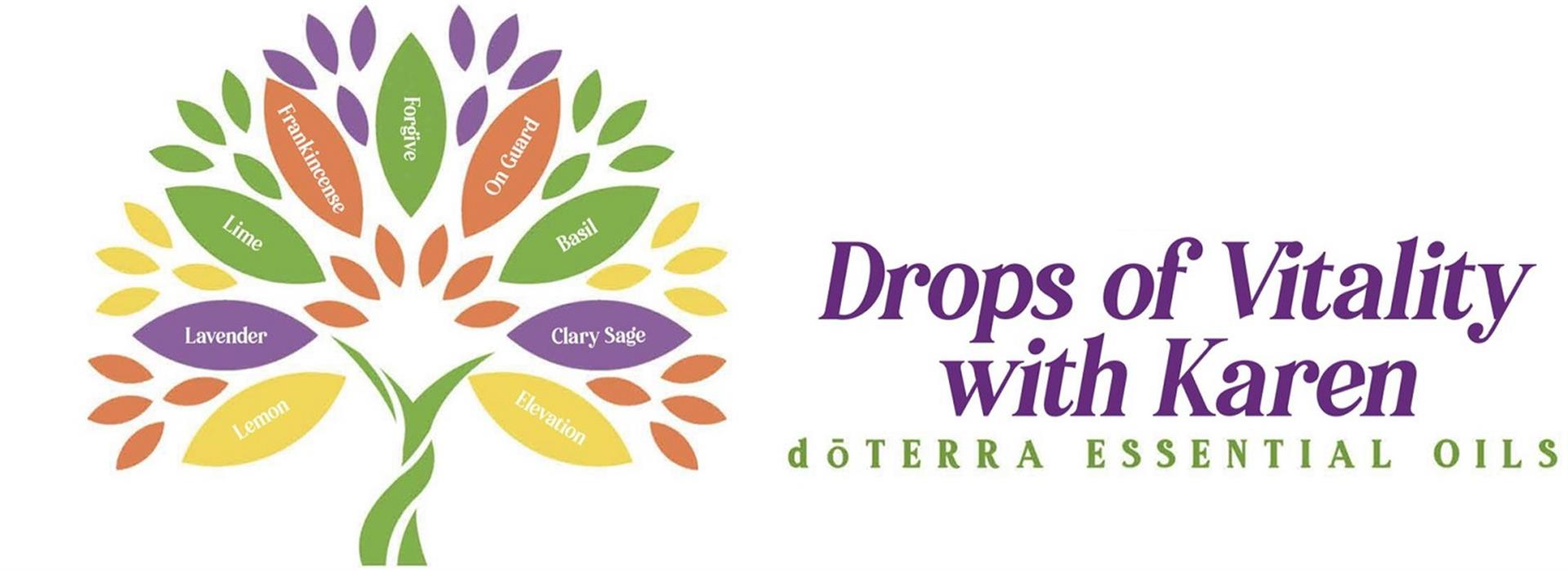 Drops of Vitality with Karen  logo